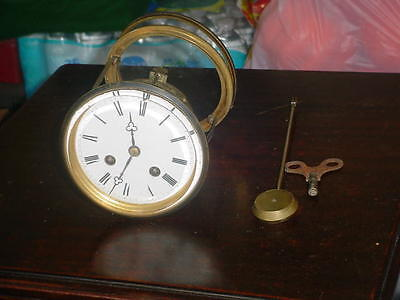 French Clock Complete Movement Works Great No Damage At All.