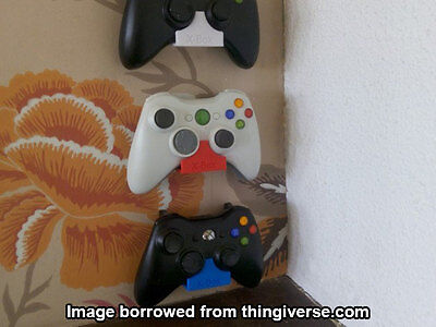 Xbox 360/One Wall-Mounted Controller Holder [3D Printed]