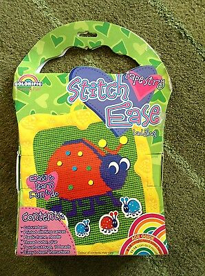 Colorific stitch ease ladybird tapestry kit NEW