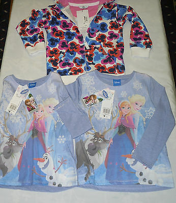 Ideal Christmas Gift 3 BNWT items Girls Floral Hoodie plus 2 Frozen tops 4-5 yrs