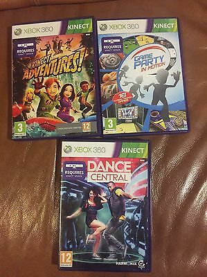 Xbox 360 Bundle - Dance Central, Kinetic Adventures, Game Party