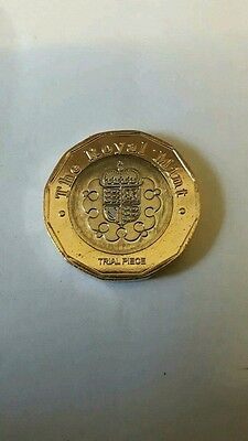 2015 £1 pound trial coin new shape 12 sided