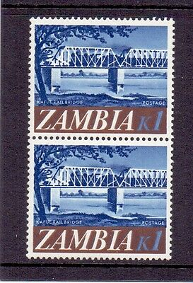 Zambia. 1k mint never hinged pair. Issued 1968