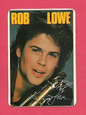 Rob Lowe Music Collectible Card 1986; Actor; Wayne's World; Outsiders; Hollywood