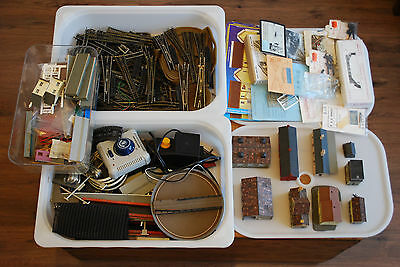 Large Lot Of N Gauge Model Railway Track, Points, Accessories, Scenic Items Etc.