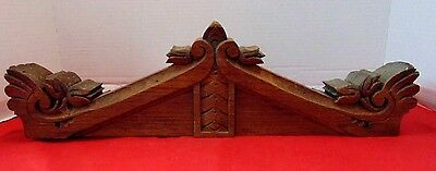 Antique Architectural Salvage Antique Walnut Pediment Header