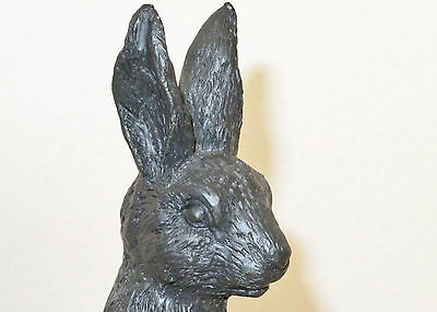 Rabbit Statue Figurine, 9 inch, Ears erect Paws begging
