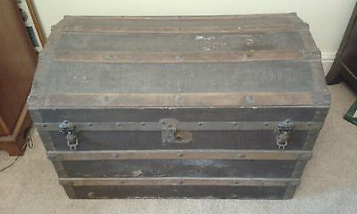 Antique Victorian Dome Top Trunk