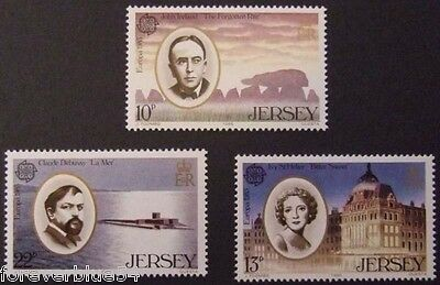 Jersey 1985 SG 357-359  Sc 353-5 MNH Europa Music Performing Arts combine p&p