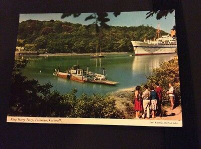 Postcard Of King Harry Ferry, Falmouth, Cornwall