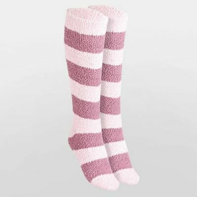 THE RIDING SOCK COMPANY 3 Pairs Pink Knee High Striped Socks 12 1/2 - 3 1/2 BNWT