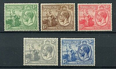 TRINIDAD & TOBAGO 1922-28 Mint stamps to 3d