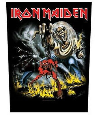 Iron Maiden BACK PATCH New Official Number of the beast