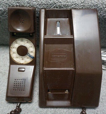 Northern Telecom Contempra Rotary Dial Phone Brown