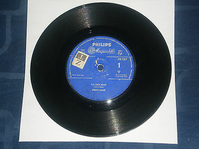 """Jimmy Dean - Big Bad John - 1961 Country Classic - Philips Label  7"""" Single"""