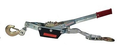HEAVY DUTY 3 TON WINCH COME ALONG - 2 Hooks - Dual Ratchet Gear, 6000 Lbs