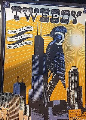 Wilco's Jeff Tweedy Vic Theater StatusSerigraph Limited Addition Poster Print