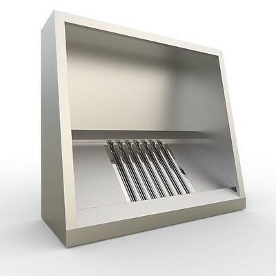 Commercial Kitchen Extraction Canopy Hood 1200 mm