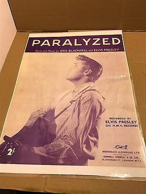 Elvis Presley 'Paralyzed' Laminated Advertisement Poster / Picture