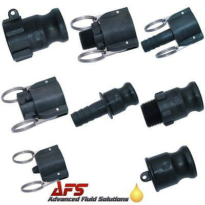 Cam & Groove Coupling Camlock Quick Connect Water Fitting Polypropylene Plastic