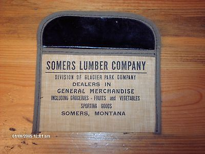 1940-50s Somers Lumber Company Hunting / Fishing License Holder-  Montana