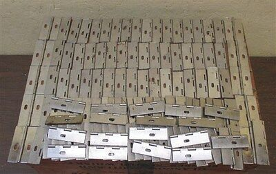 "125 Metal Hinges 2.5"" x 1.5"" Silver Steel Cabinet Desk Door Hardware Drawer Pull"