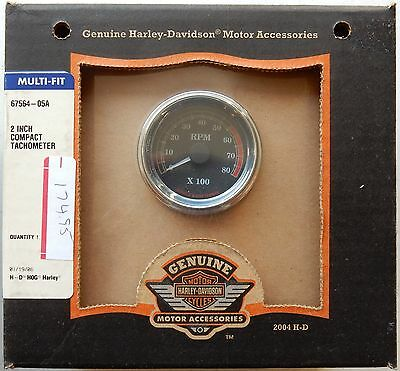 67564-05A Harley-Davidson Multi-Fit 2 Inch Compact Tachometer