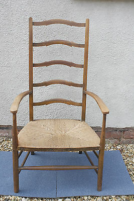 arts & crafts ladder back chair