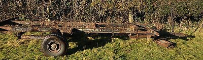 bale trailer chassis/frame