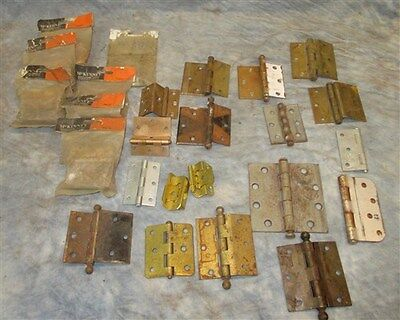 24 Hinges Door Cabinet Vintage Architectural Salvage Reclaimed Hardware Lot h