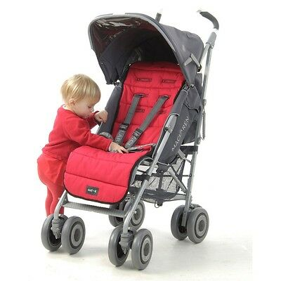 Outlook Universal Pram Pushchair Liner RED Design Extra Long