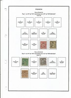 Francia 1876-1925 Mixed Classic Collection Used/mh (8 Scans)