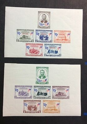 Honduras 1959 Fine Two Imperf Souvenir Sheets One With Official Overprint