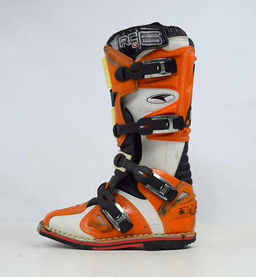 AXO Orange KTM RC 6 Motorcycle Leather & Composite Motocross Racing Boots Mens 7
