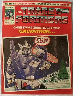 Transformers UK Comic Issue 93 December 1986