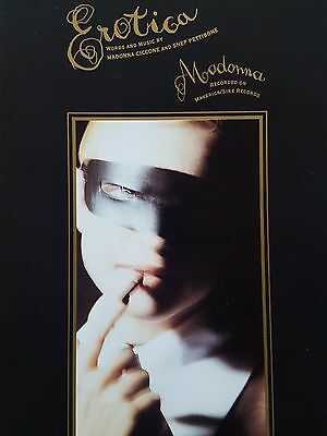 Madonna: Erotica (Piano/Vocal/Guitar Sheet Music) - OUT OF PRINT, MINT CONDITION
