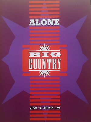 Big Country: Alone (Piano/Vocal/Guitar Sheet Music) OUT OF PRINT, MINT CONDITION