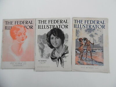 1928-1929 Federal Illustrator magazine lot Minneapolis Illustration Art School