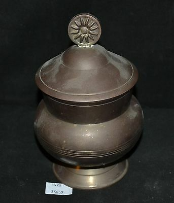 ThriftCHI ~ Brass Lidded Candle Jar Made In India