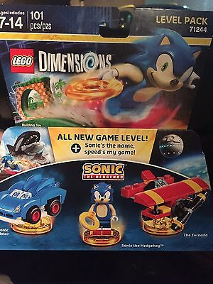 Lego Dimensions Level Pack 71244 Sonic The Hedgehog New Free Shipping