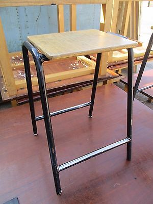 60 Vintage adult cafe bistro restaurant stacking metal and wood school stools
