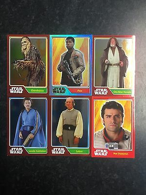 Star Wars Topps Journey To Star Wars The Force Awkens Foil Trade Cards