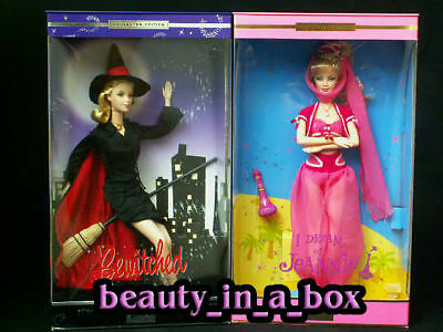 I Dream of Jeannie Barbie Doll Bewitched Samantha Lot 2 Barbara Eden NRFB