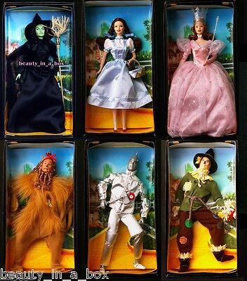 Wizard of Oz Barbie Doll Wicked Witch Dorothy Glinda Lion Pink Label ~ NO BOXES