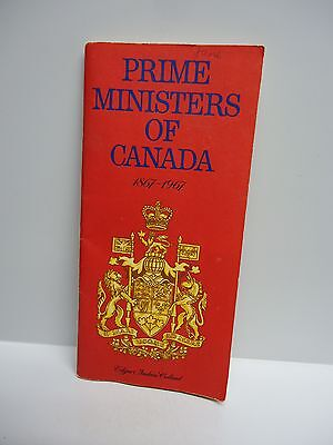 Vintage -  PRIME MINISTERS OF CANADA - 1867- 1967 - TEXACO Centennial Booklet