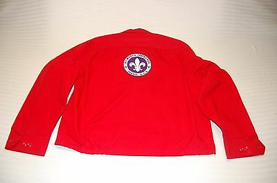 VIntage 60's Boy Scout Red Jacket Coat - Large - With 1967 World Jamboree Patch