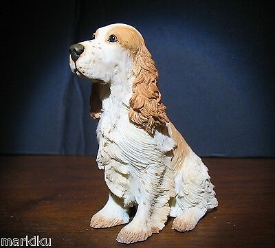 New Cocker Spaniel dog Figurine CA06257 Country Artists Tan & white