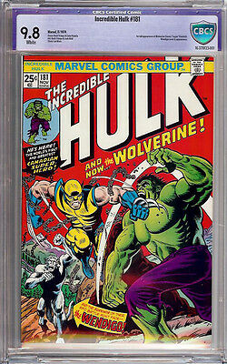 INCREDIBLE HULK #181 CBCS 9.8 NOT CGC 1st FULL app WOLVERINE WHITE PAGES AWESOME