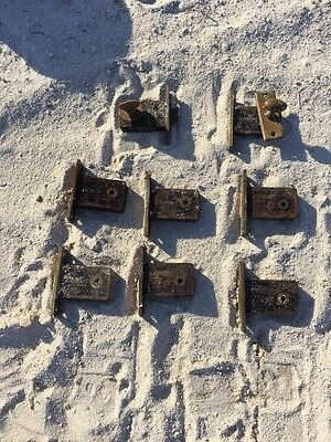 R&EMFC Co. Company Antique Bronze Locks Hardware Lot Deadbolt  2 Knobs Rare