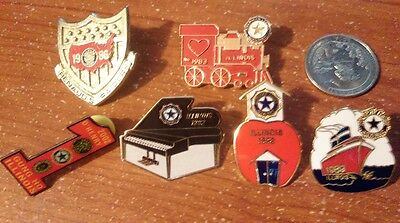 Junk Drawer Lapel Pins American Legion UAW Patriotic Religious Misc and More